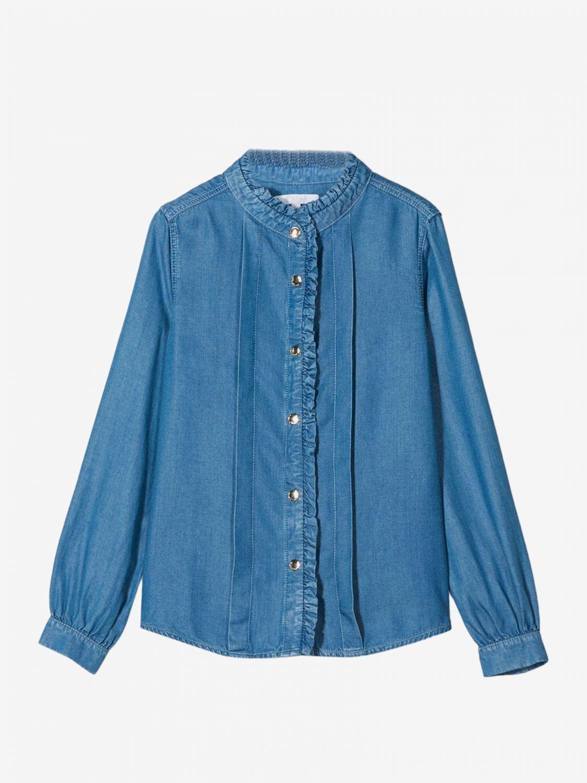 Рубашка Chloé: Рубашка Детское ChloÉ серо-бежевый 1
