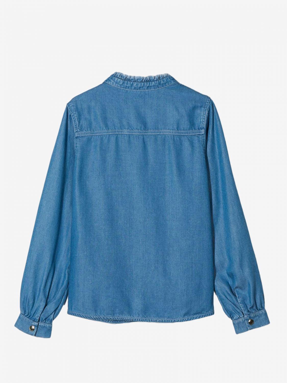 Рубашка Chloé: Рубашка Детское ChloÉ серо-бежевый 2
