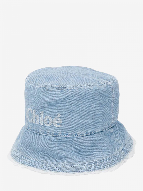 Шапка для девочек Детское ChloÉ серо-бежевый 1