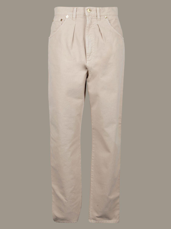 Pantalon Alberta Ferretti: Pantalon large Alberta Ferretti à 5 poches beige 1