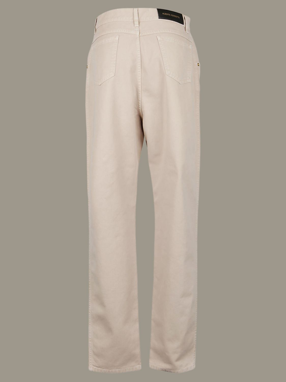 Pantalon Alberta Ferretti: Pantalon large Alberta Ferretti à 5 poches beige 2
