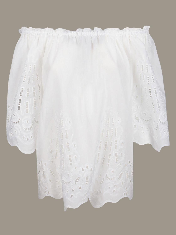 Рубашка Alberta Ferretti: Свитер Женское Alberta Ferretti белый 1