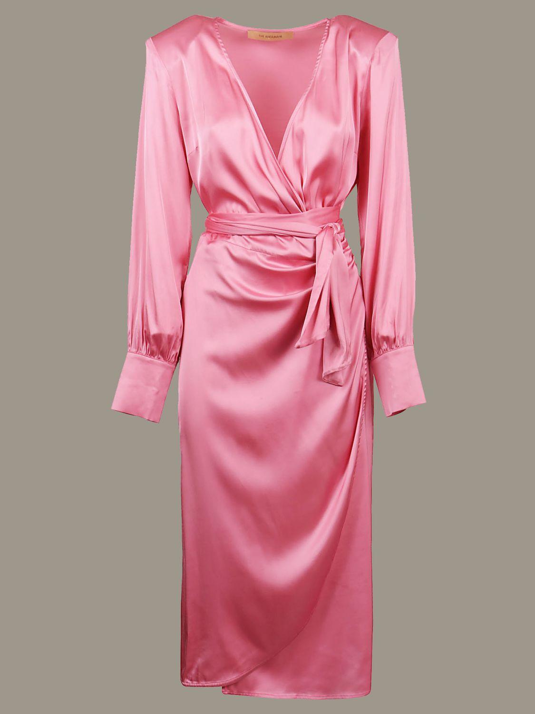 Abito Andamane: Abito Andamane a v con cinta a fascia rosa 1