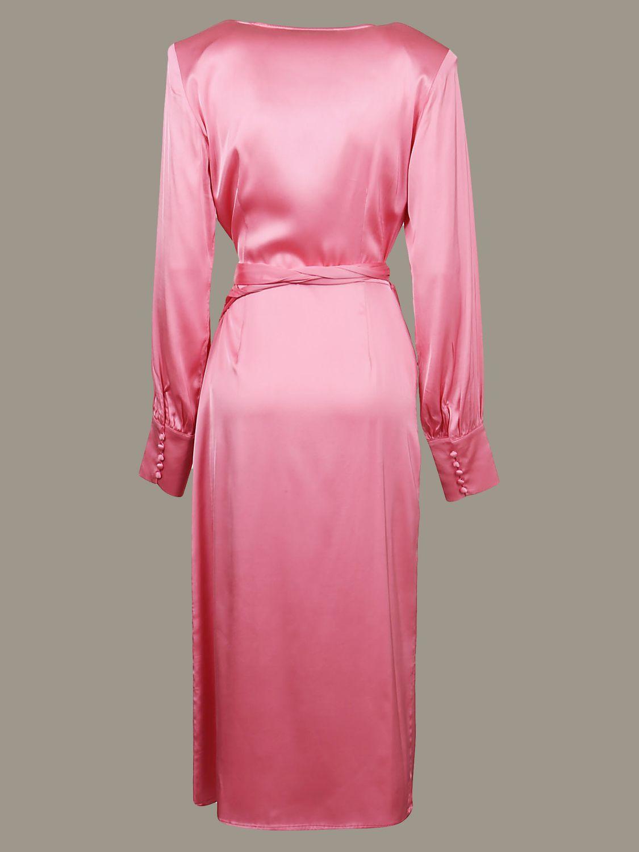 Abito Andamane: Abito Andamane a v con cinta a fascia rosa 2
