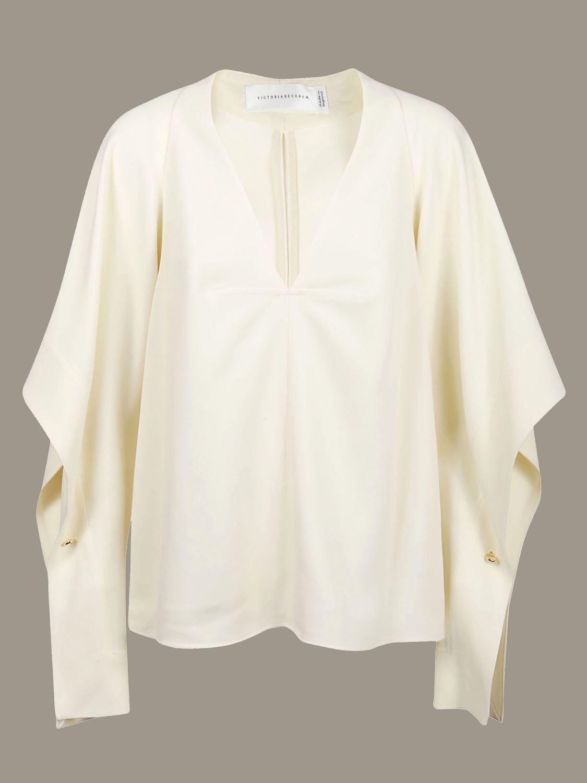 Рубашка Victoria Victoria Beckham: Свитер Женское Victoria Victoria Beckham кремовый 1