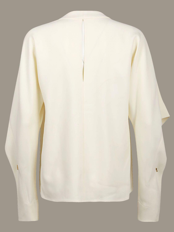Рубашка Victoria Victoria Beckham: Свитер Женское Victoria Victoria Beckham кремовый 2
