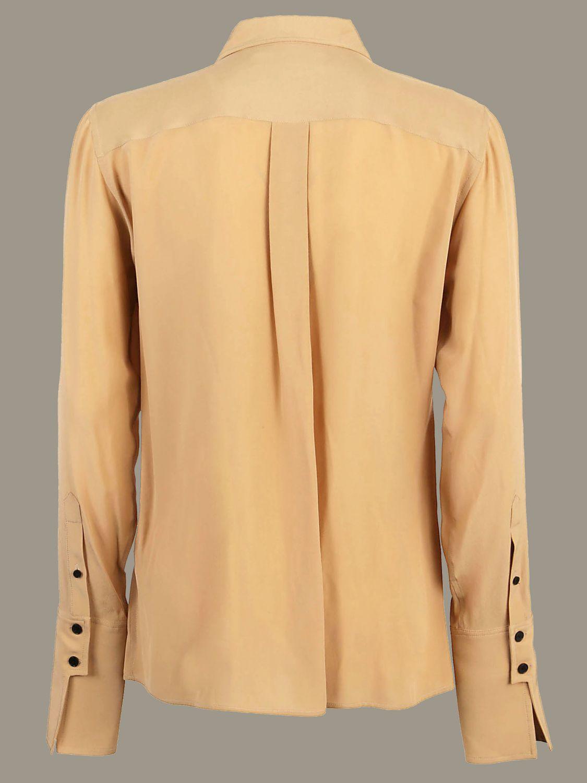 Рубашка Victoria Victoria Beckham: Рубашка Женское Victoria Victoria Beckham желто-коричневый 2