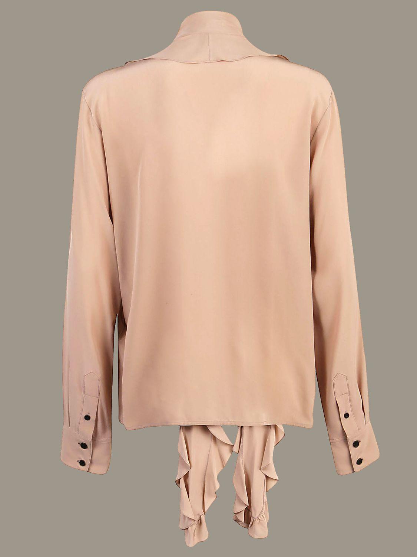 Рубашка Victoria Victoria Beckham: Свитер Женское Victoria Victoria Beckham серый мышиный 2
