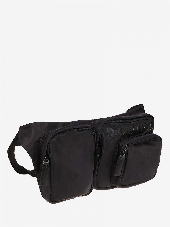 Belt bag Dsquared2: Dsquared2 nylon belt bag with logo black 3