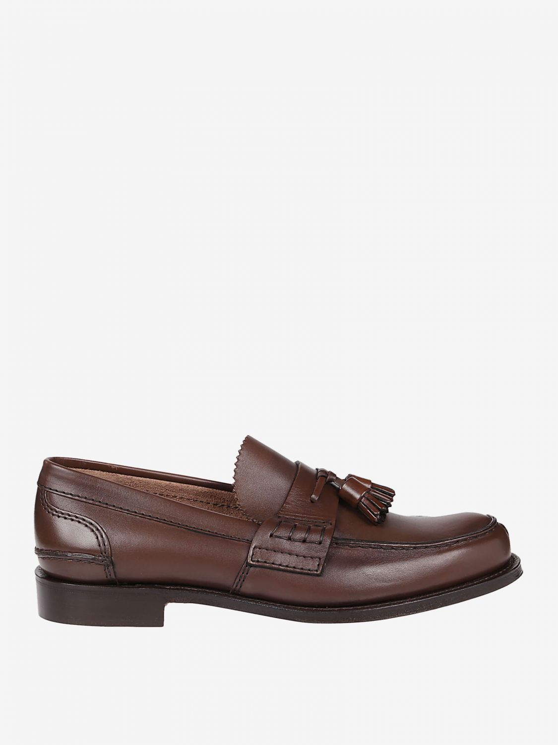 Loafers Church's: Church's moccasin in smooth leather with tassels honey 1