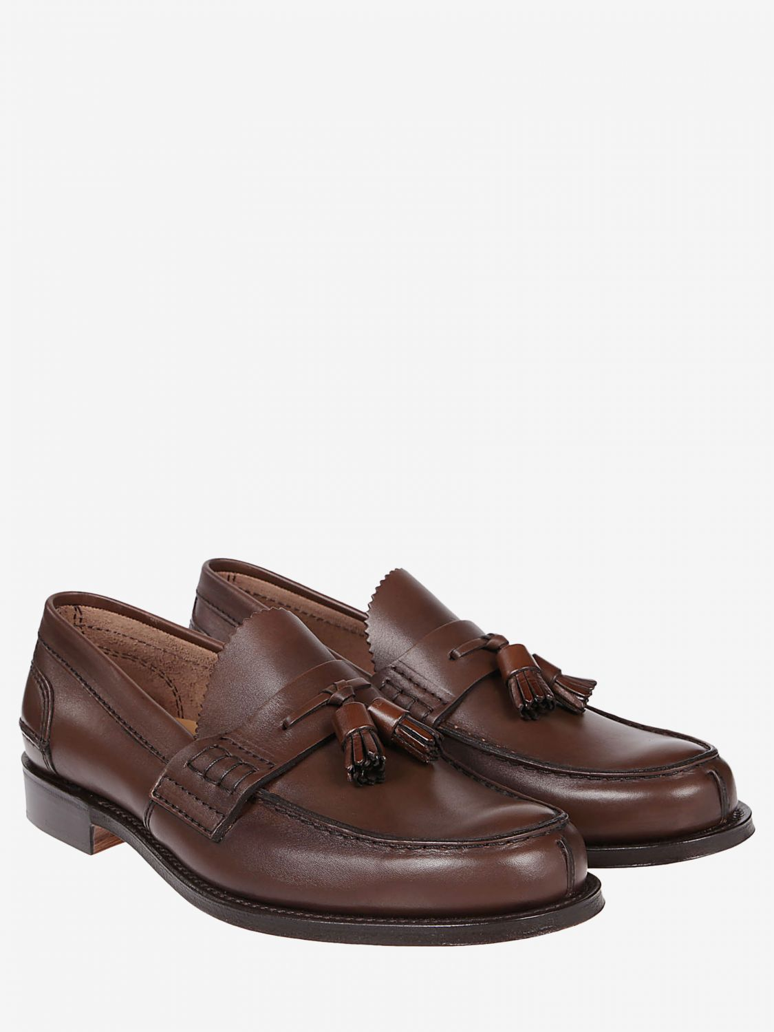 Loafers Church's: Church's moccasin in smooth leather with tassels honey 2