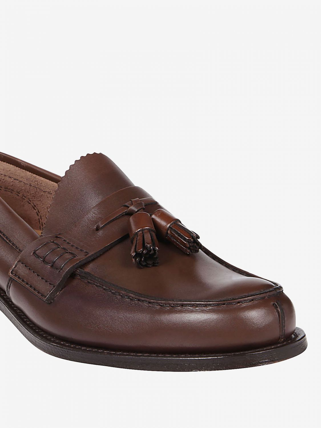 Loafers Church's: Church's moccasin in smooth leather with tassels honey 3