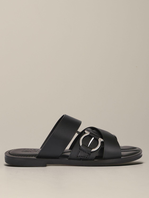 Salvatore Ferragamo leather sandal with