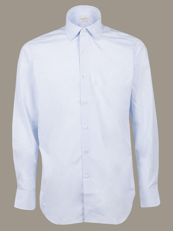 Camicia Bagutta con collo francese azzurro 1