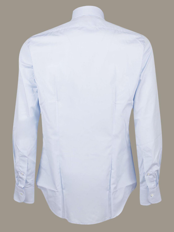 Camicia Bagutta con collo francese azzurro 2