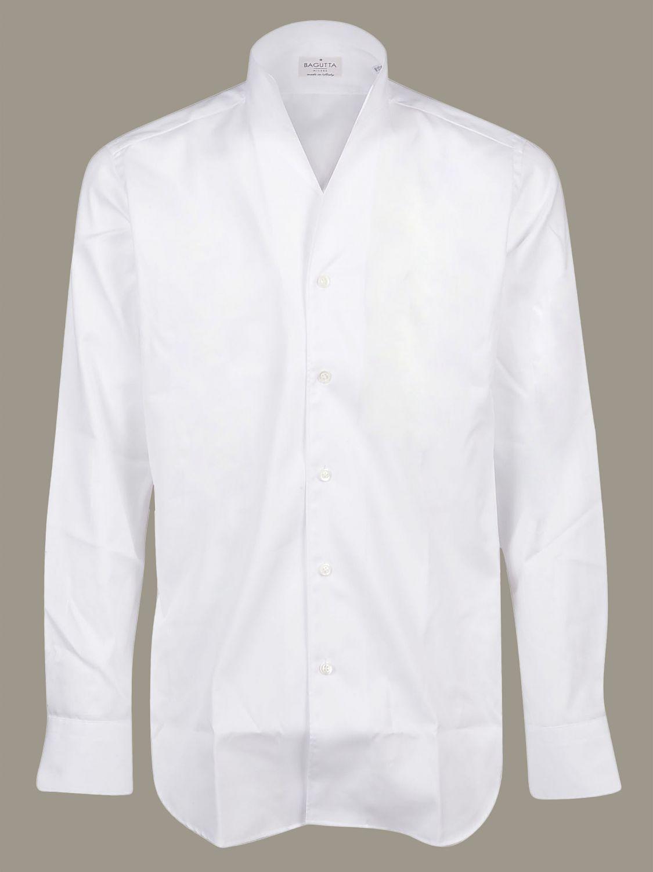 Camicia Bagutta con collo alto bianco 1
