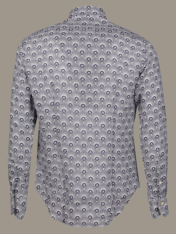 Camicia Bagutta a micro fantasia bianco 2