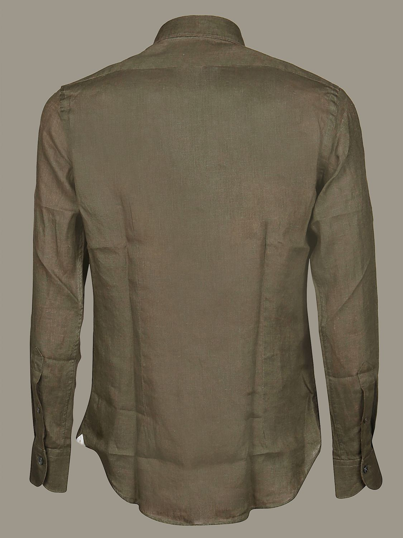 Camicia Bagutta con collo francese verde 2