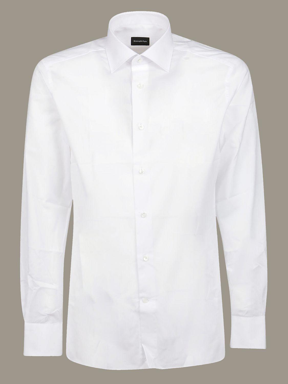Camicia Ermenegildo Zegna con collo italiano bianco 1