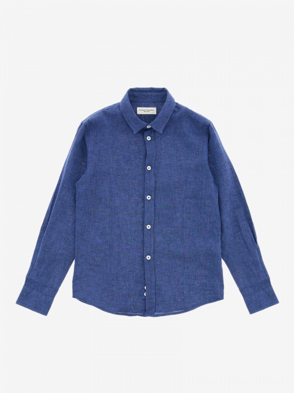 Camicia Paolo Pecora a maniche lunghe blue 1