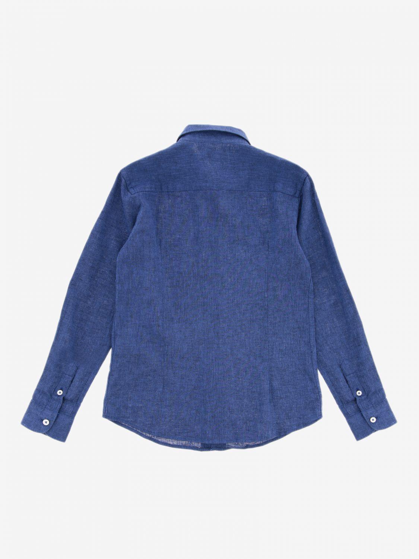 Camicia Paolo Pecora a maniche lunghe blue 2