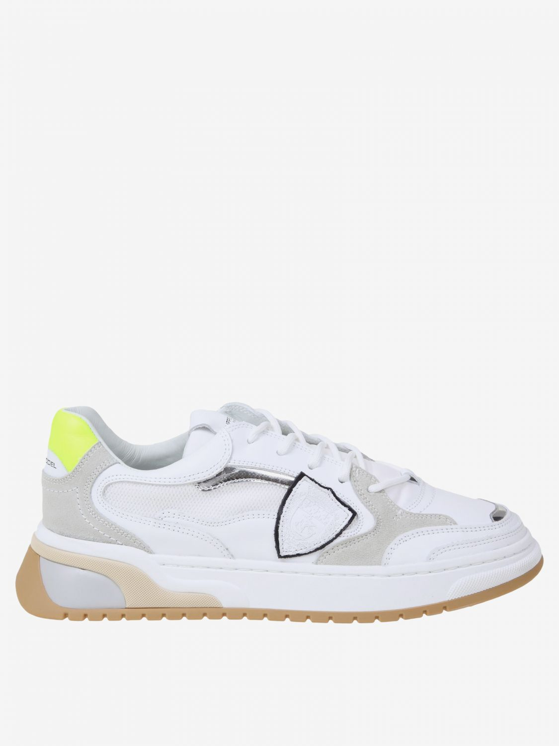 Baskets homme Philippe Model blanc 1