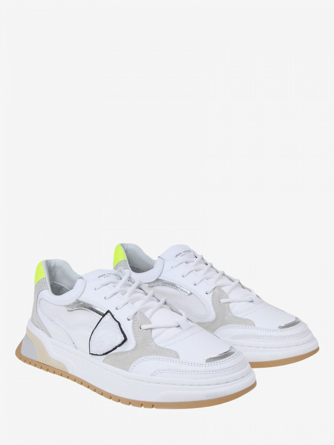 Baskets homme Philippe Model blanc 2