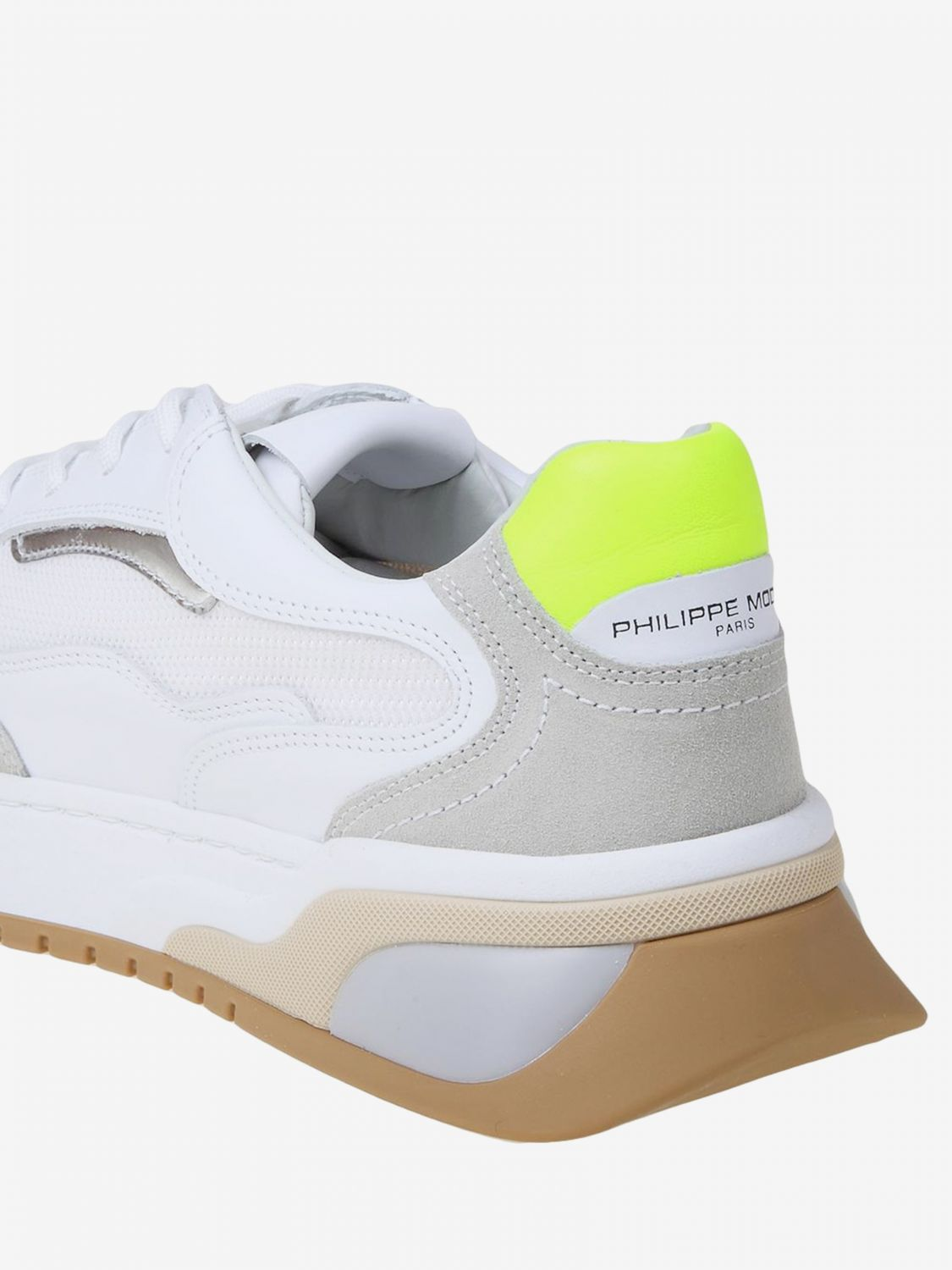 Baskets homme Philippe Model blanc 4