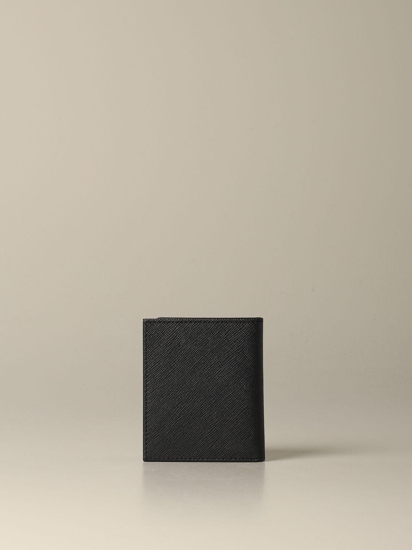 Portefeuille de livre vertical Armani Exchange noir 3
