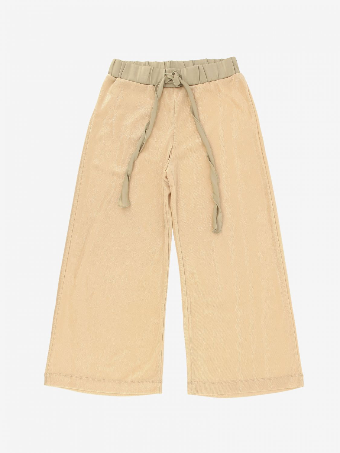Pantalone Caffe' D'orzo: Pantalone Caffe' D'orzo con coulisse cipria 1