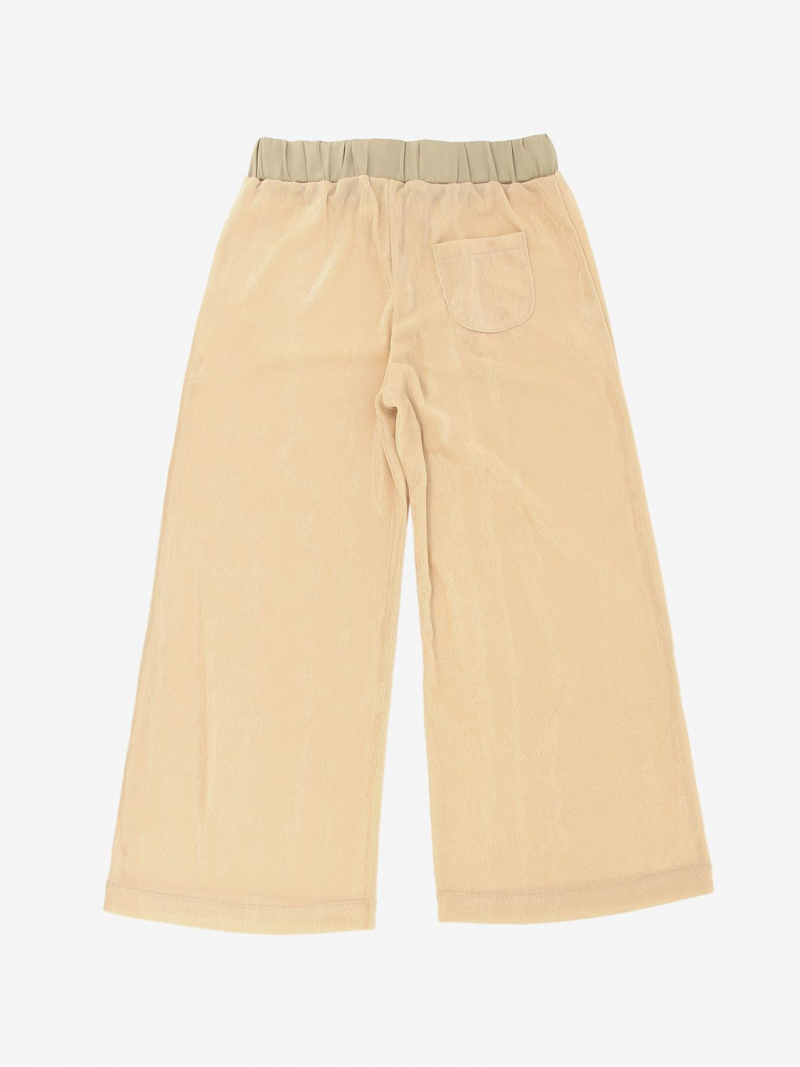 Pantalone Caffe' D'orzo: Pantalone Caffe' D'orzo con coulisse cipria 2