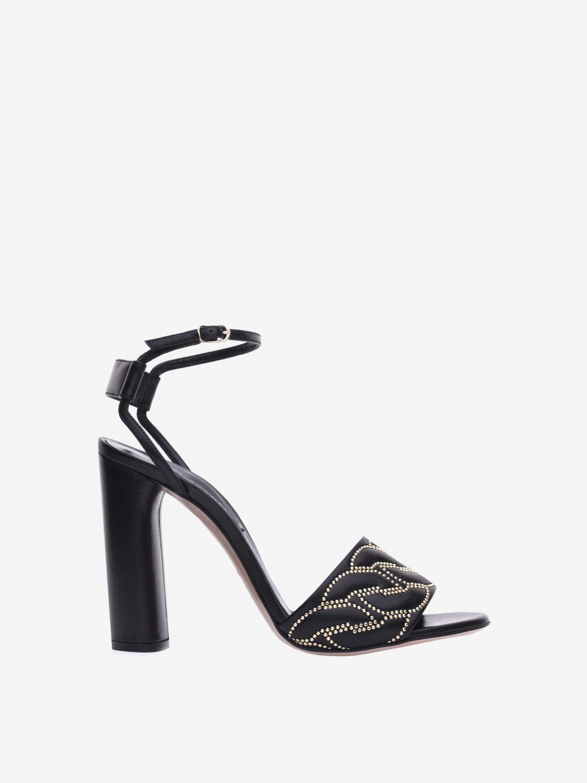 Heeled sandals Casadei: Flat sandals women Casadei black 1