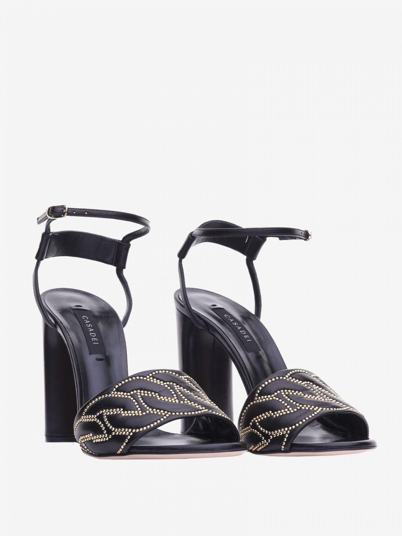 Heeled sandals Casadei: Flat sandals women Casadei black 2