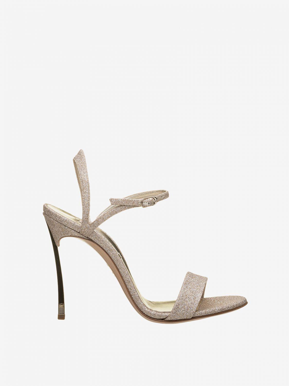 Heeled sandals Casadei: Flat sandals women Casadei platinum 1