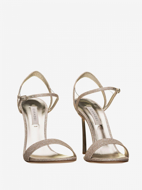 Heeled sandals Casadei: Flat sandals women Casadei platinum 2