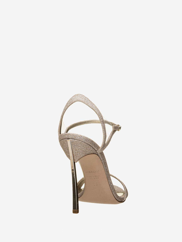 Heeled sandals Casadei: Flat sandals women Casadei platinum 3
