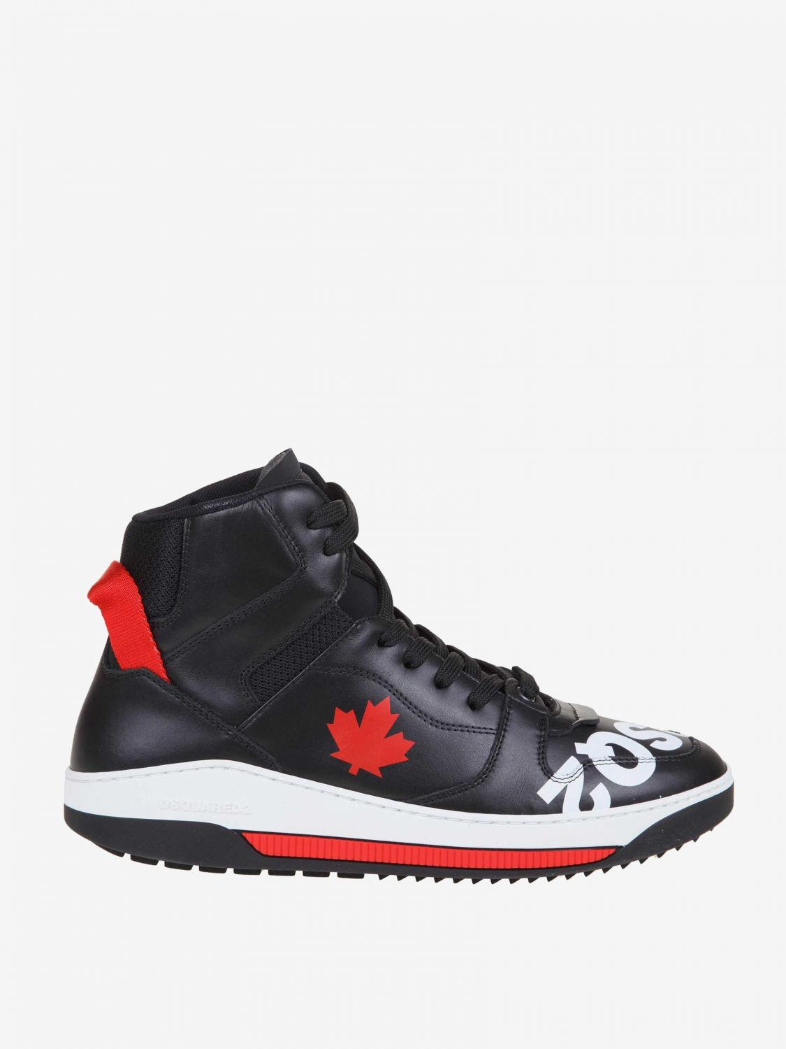 Sneakers Dsquared2: Dsquared2 leather sneakers with logo black 1