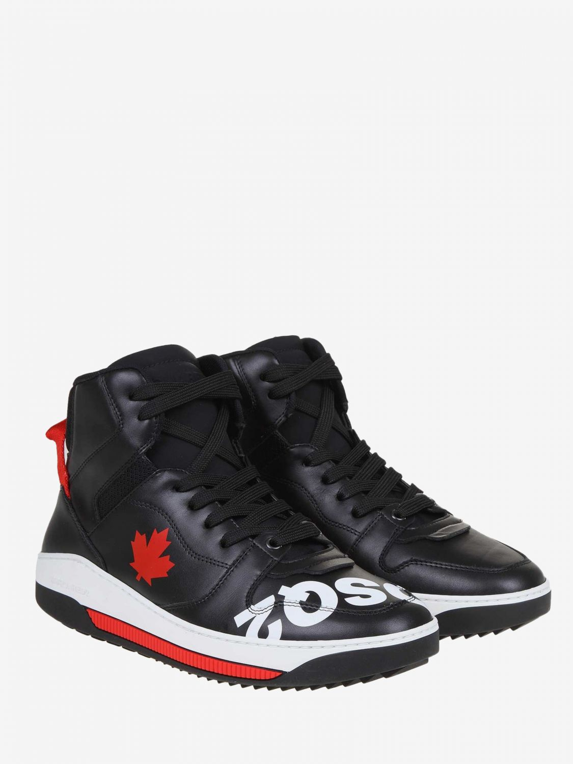 Sneakers Dsquared2: Dsquared2 leather sneakers with logo black 2
