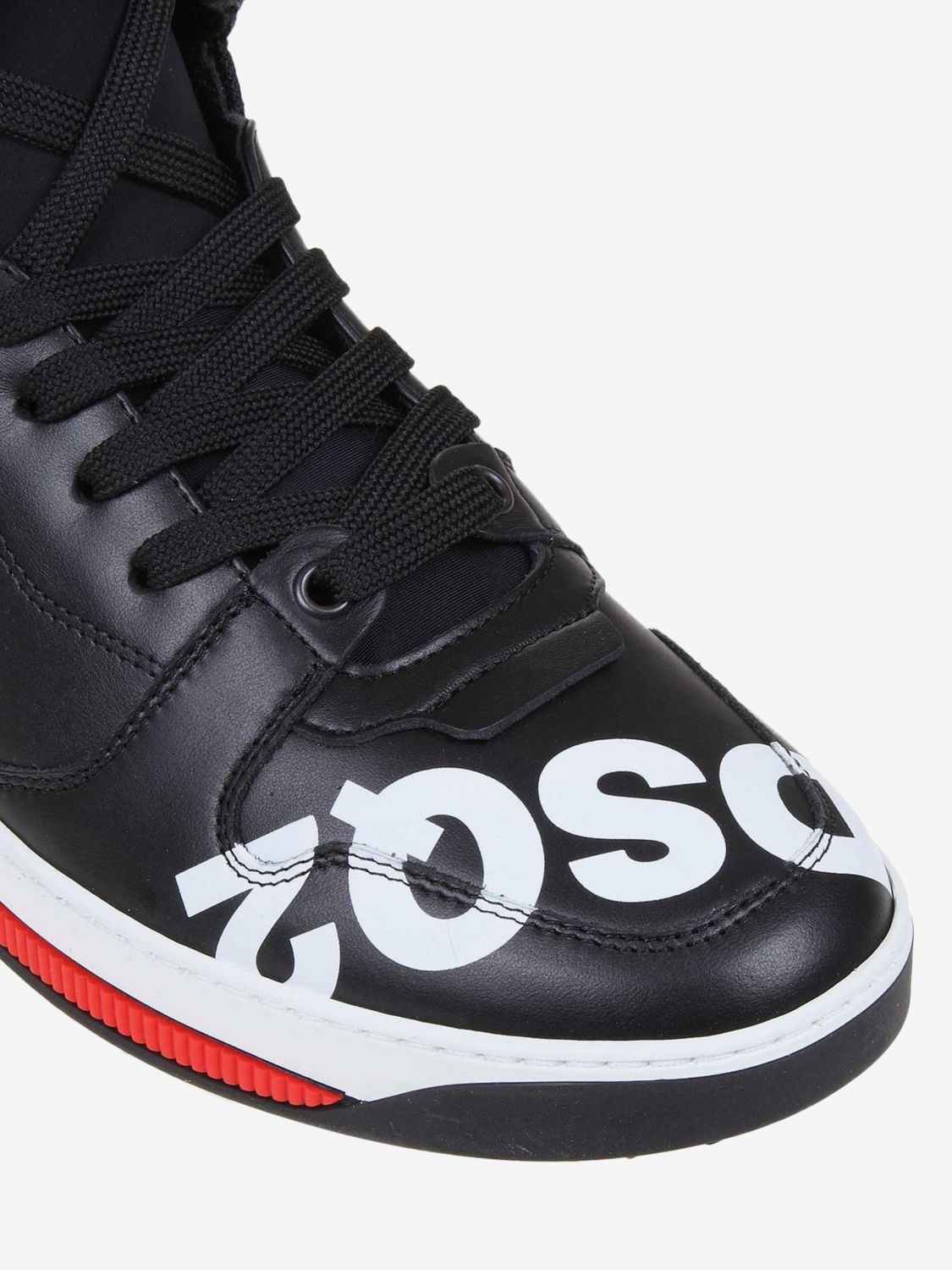 Sneakers Dsquared2: Dsquared2 leather sneakers with logo black 3