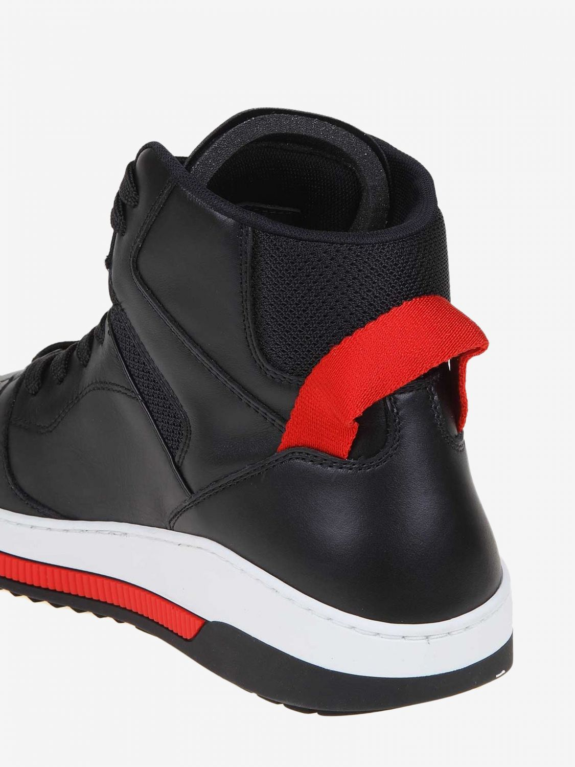 Sneakers Dsquared2: Dsquared2 leather sneakers with logo black 4