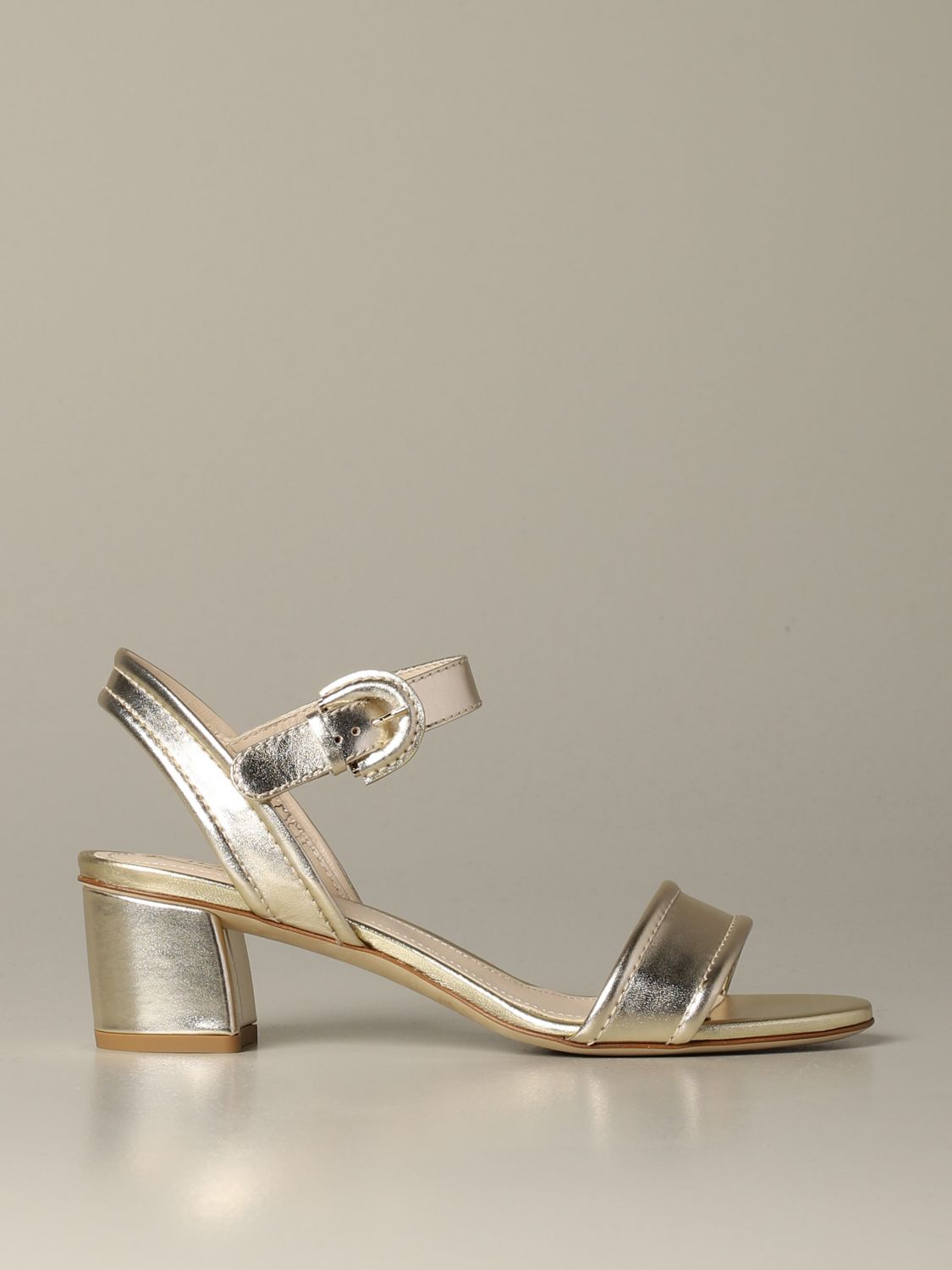 Tod's sandal in laminated leather gold 1