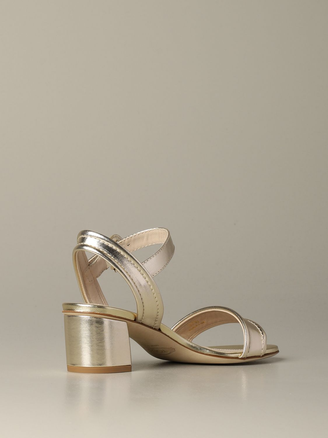 Tod's sandal in laminated leather gold 3