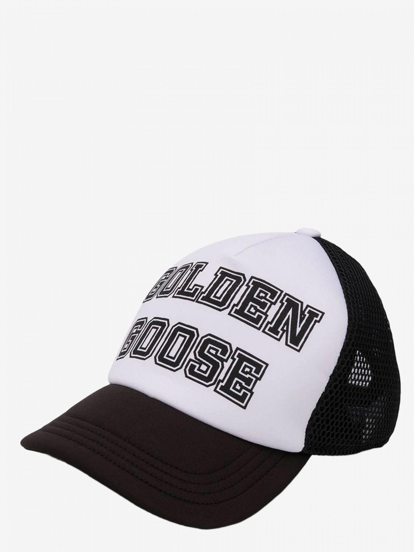 Golden Goose Cap aus Canvas und Mesh mit Logo schwarz 1