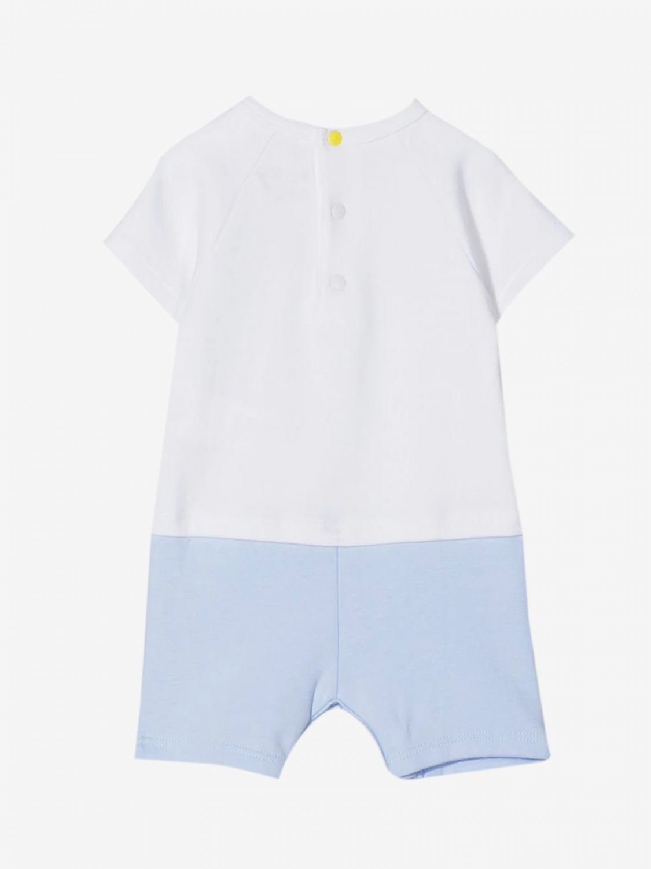 Kenzo Junior onesie with elephant print white 2