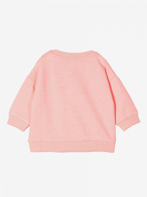 Kenzo Junior crewneck sweatshirt with Tiger Kenzo Paris logo pink 2
