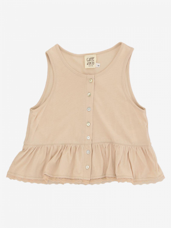 T-shirt Caffe' D'orzo: T-shirt bambino Caffe' D'orzo rosa 1