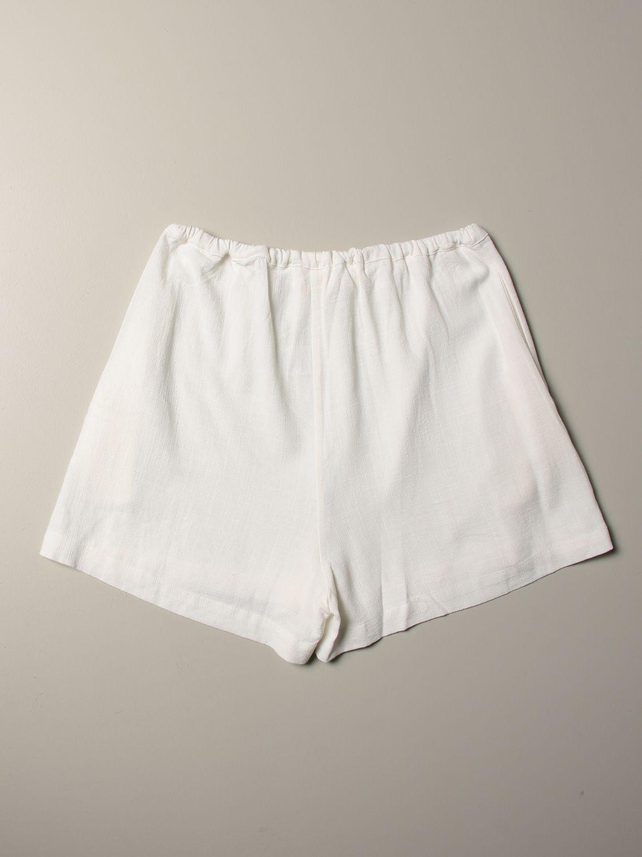 Pantalones cortos Caffe' D'orzo: Pantalones cortos niños Caffe' D'orzo blanco 2