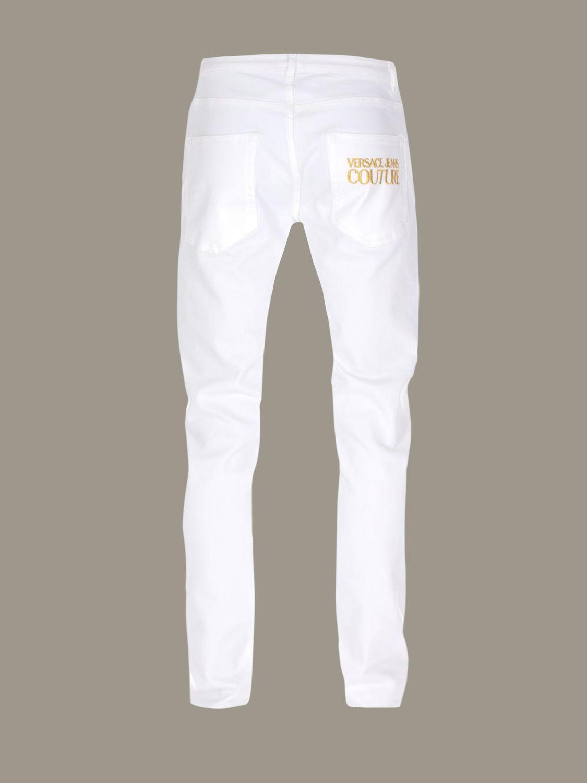 pantalon blanc versace jeans