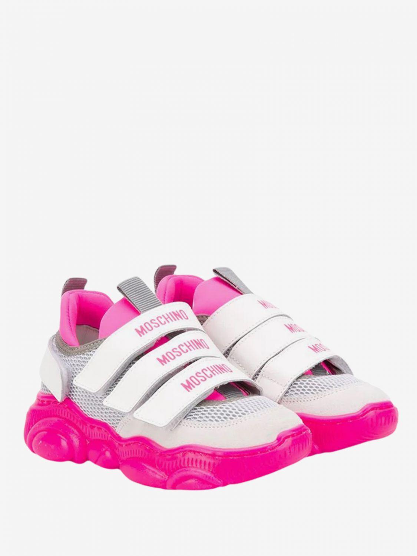 Zapatos niños Moschino Teen fucsia 1