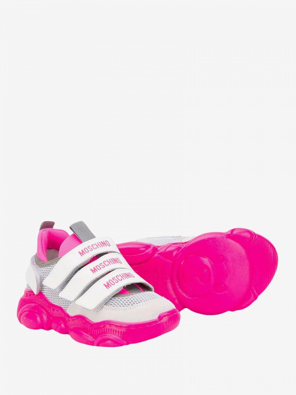 Zapatos niños Moschino Teen fucsia 2